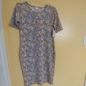 NWT LULAROE JULIA Floral Dress L